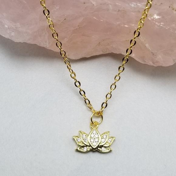 Jewelry Gold Plated Yoga Lotus Flower Necklace Poshmark